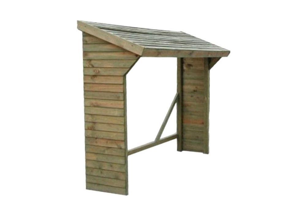 Legnaia in legno da esterno con tetto spiovente