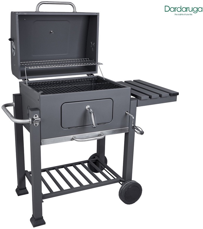 Barbecue grill e affumicatore a carbone misura XXL balcone