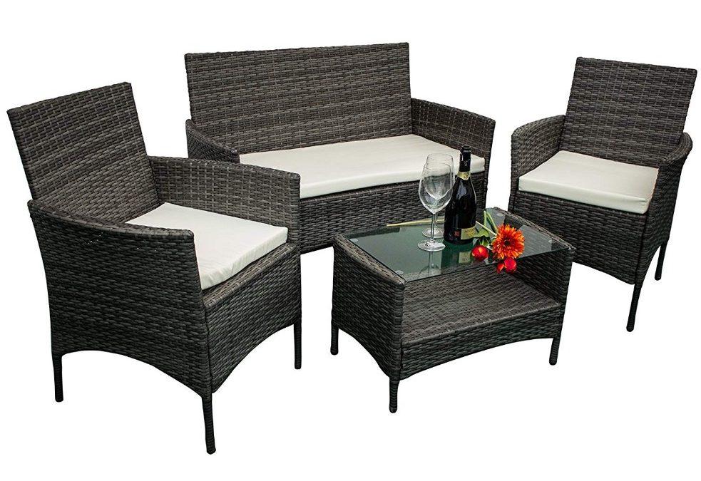 Mobili da giardino in ecorattan 2 poltrone divano tavolino