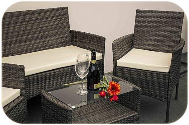 Mobili da giardino in ecorattan 2 poltrone divano tavolino esterno