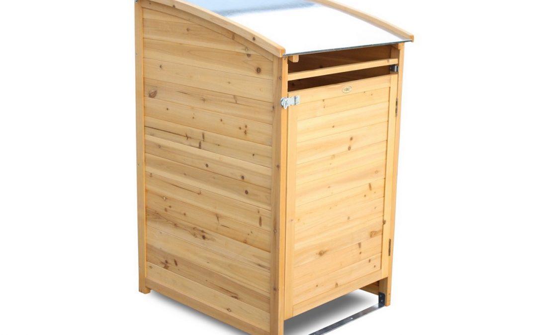 Favoloso ➡️ PORTABIDONE RIFIUTI in legno per raccolta differenziata XD88