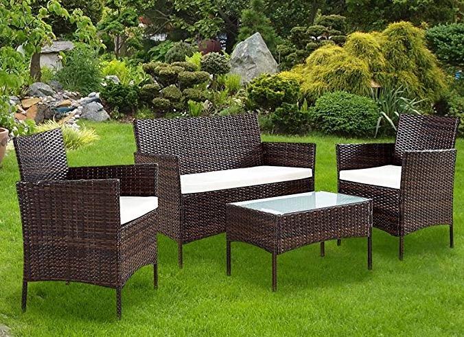 Salotto completo per arredo giardino terrazzo esterno