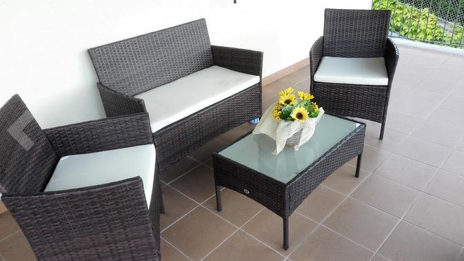 Set Salotto completo per arredo giardino terrazzo lounge bar
