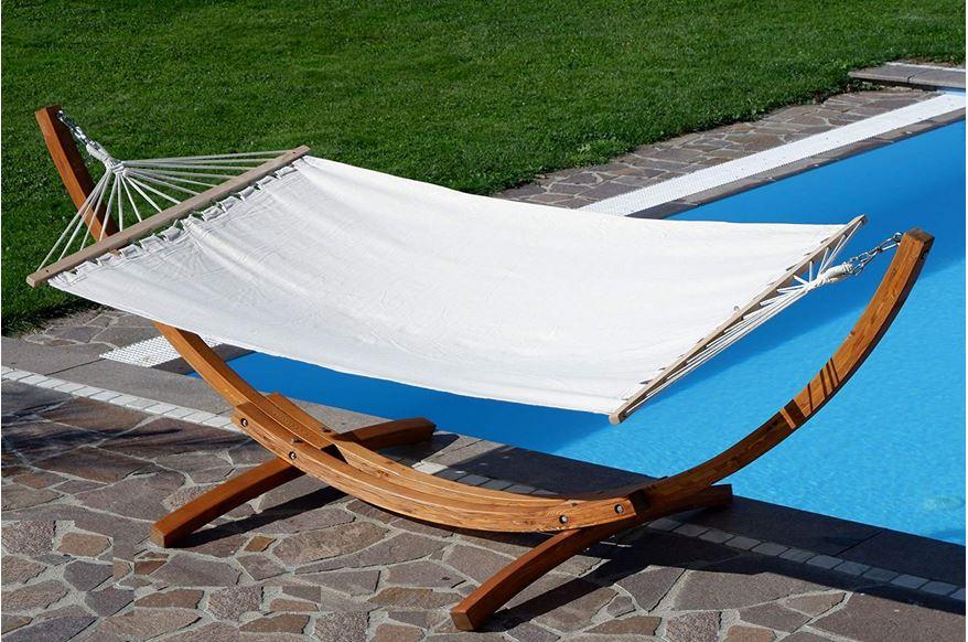 amaca in legno per piscina spiaggia mare