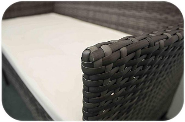 misure mobili giardino rattan sintetico grigio con cuscini