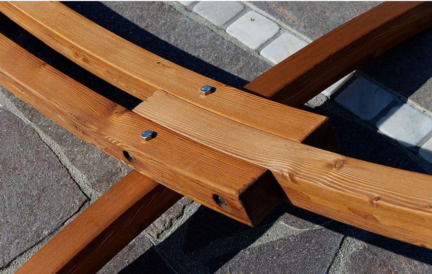 struttura legno amaca doppia