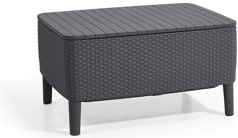 tavolino da giardino plastica resina grigio antracite
