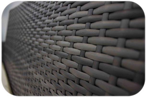 texture eco rattan grigio intrecciato resistente