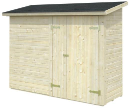Box addossato parete legnaia in legno
