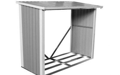 Box legna da esterno in metallo