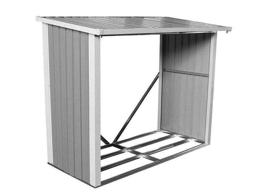 Box legna da esterno in metallo legnaia in ferro