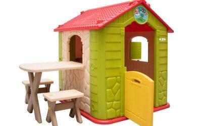Casetta gioco bambini con tavolo e sgabelli