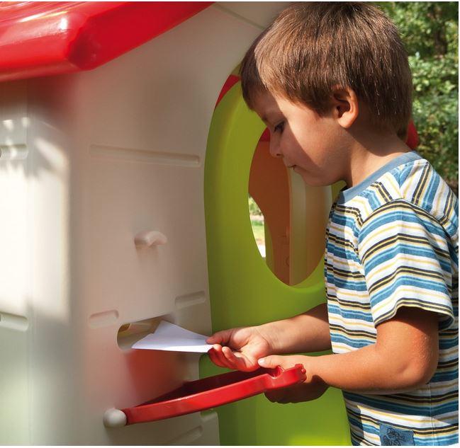Casetta gioco con buca lettere posta