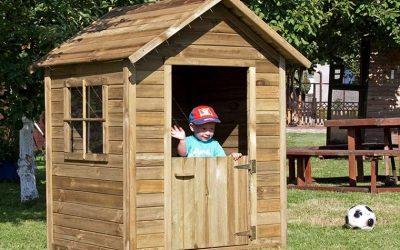 Casetta in legno bambini con tetto impermeabile