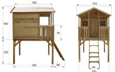 Casetta in legno palafitta per bambini