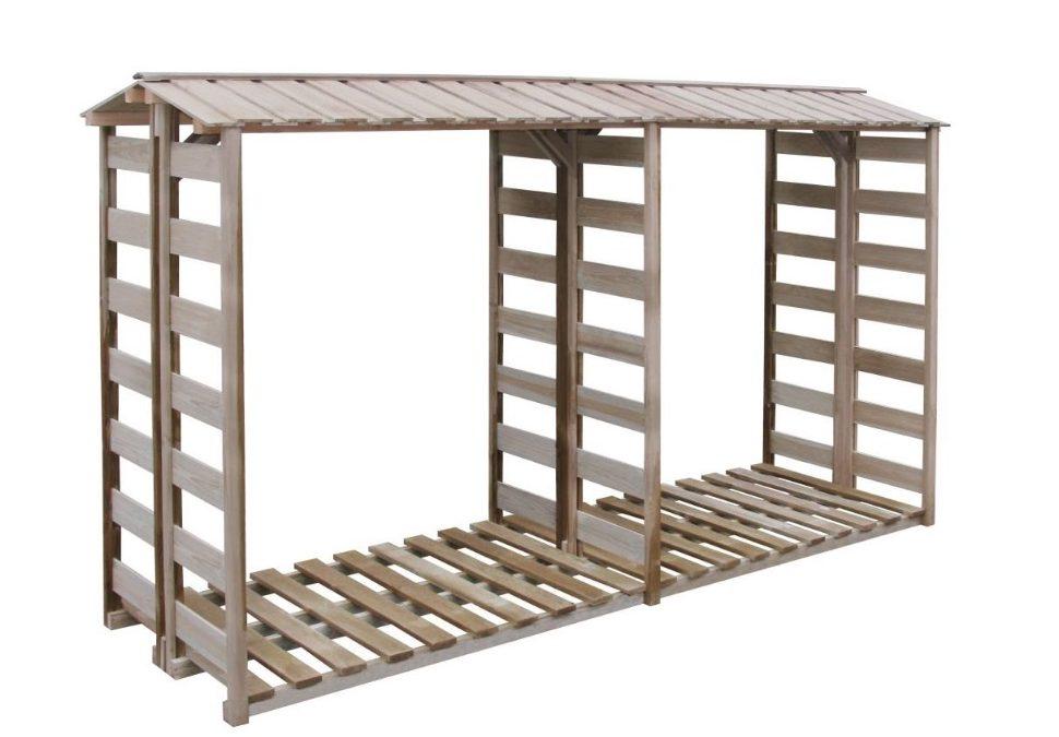 Deposito per legname in legno impregnato da esterno