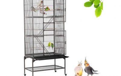 Gabbia voliera per uccelli, pappagalli, criceti e roditori