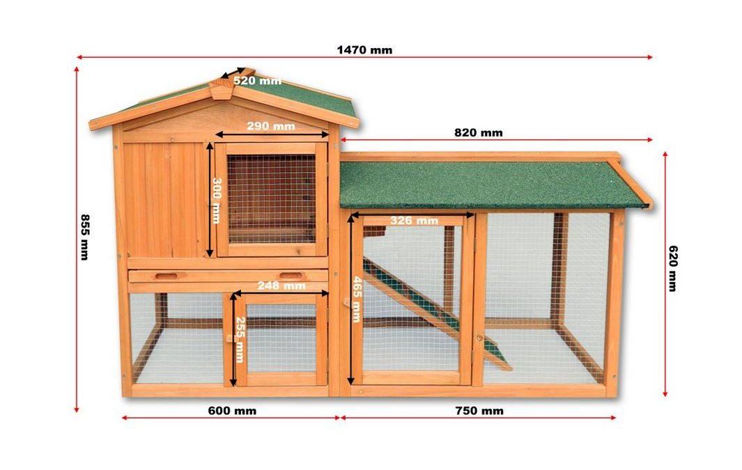 Pollaio Universale per galline, conigli e roditori