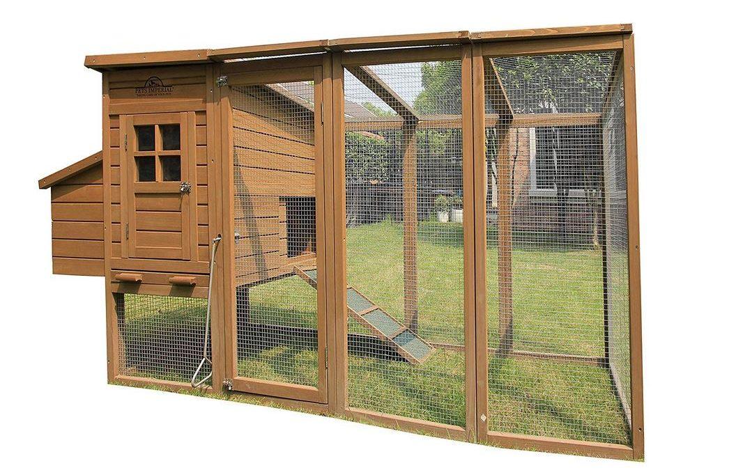 Pollaio fai da te in legno con recinto per 4 - 6 galline