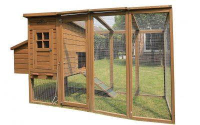 Pollaio fai da te in legno con recinto per 4 – 6 galline