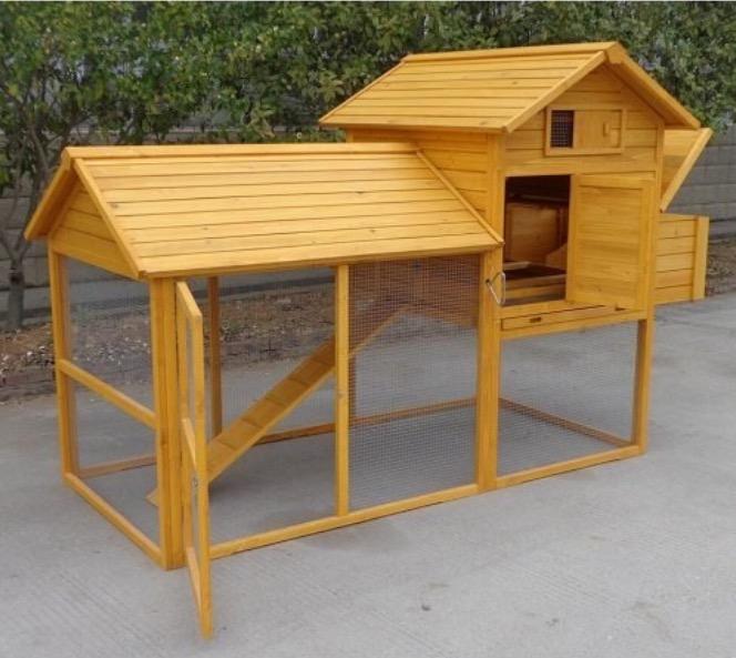 Pollaio in legno da giardino per 6 - 10 galline conigli