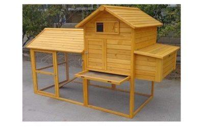 Pollaio in legno da giardino per 6 – 10 galline