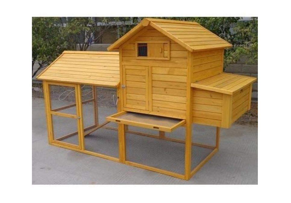 Pollaio in legno da giardino per 6 - 10 galline ovaiole