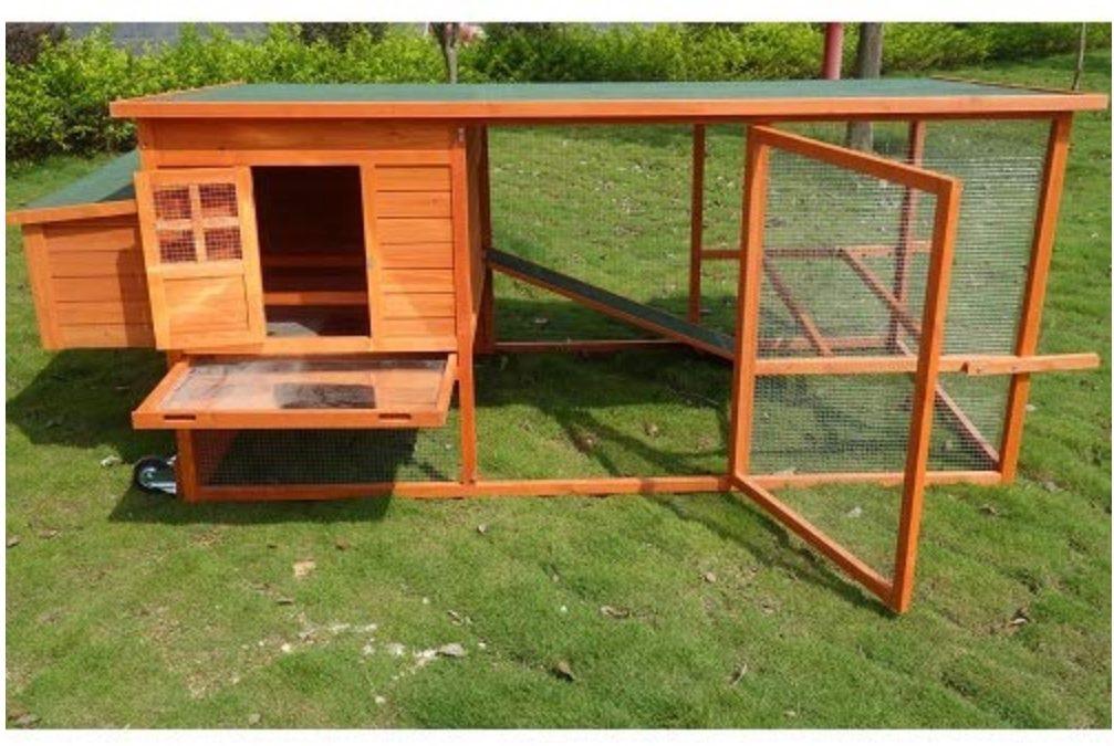 Pollaio mobile da giardino per galline ovaiole