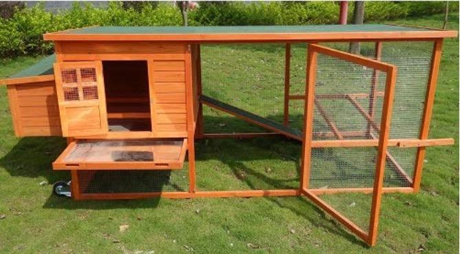 Pollaio mobile da giardino per galline ovaiole con vassoio estraibile