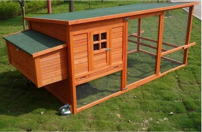 Pollaio mobile galline ovaiole per esterno casetta legno