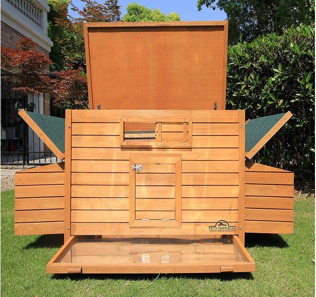 Pollaio per 8 galline da giardino esterno in legno
