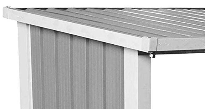 box legna in metallo tettoia impermeabile