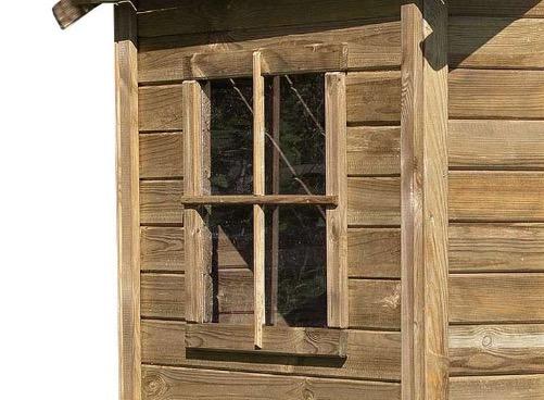 casetta legno finestra vetro