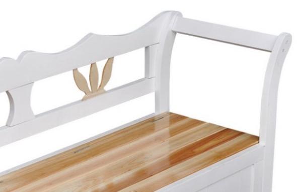 cassapanca legno bianco design classico