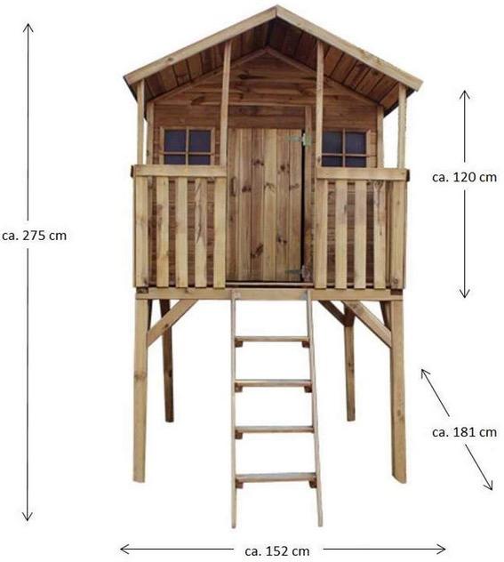 dimensioni casetta palafitta legno giardino