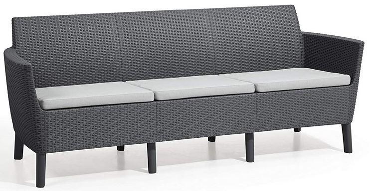 divano tre posti da esterno con cuscini