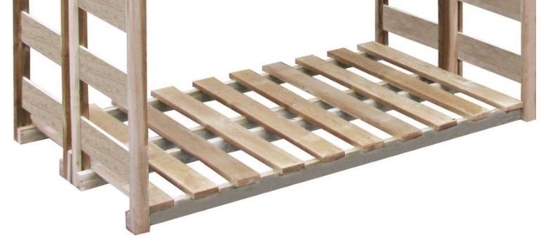 legnaia con base sollevata da terra