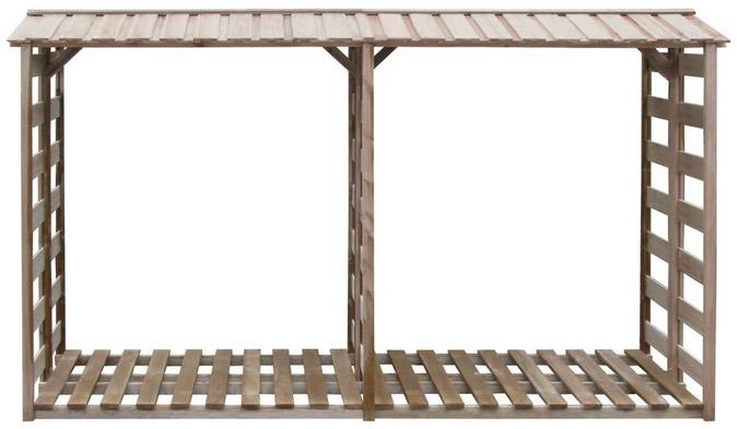 legnaia da esterno e giardino con tettoia