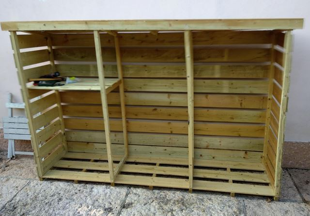 legnaia facile montaggio legna da ardere