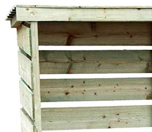legnaia in legno doghe esterno giardino