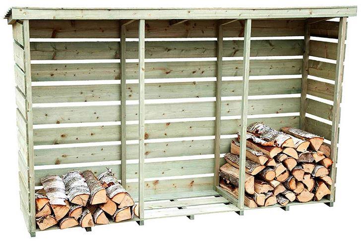 legnaia in legno trattato da esterno per legna da ardere camino