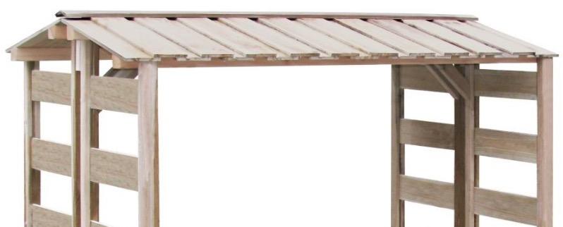 legnaia tetto spiovente pioggia protezione