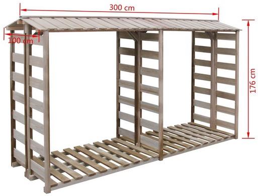 misure Deposito per legname in legno impregnato da esterno