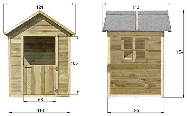 misure casetta in legno bambini da esterno