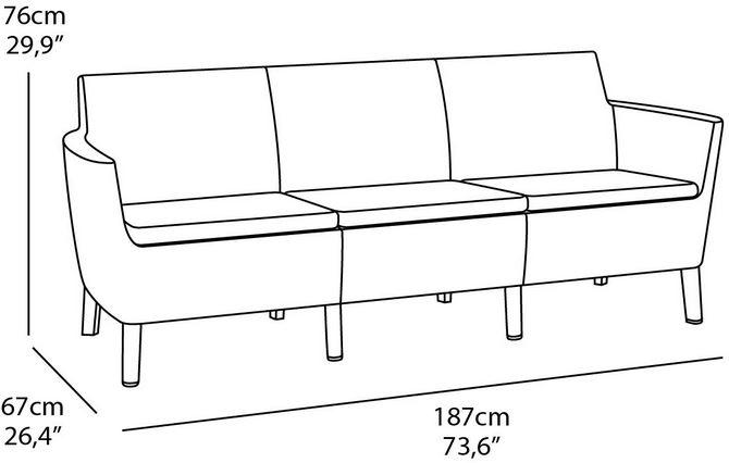 misure divano tre posti dimensioni giardino