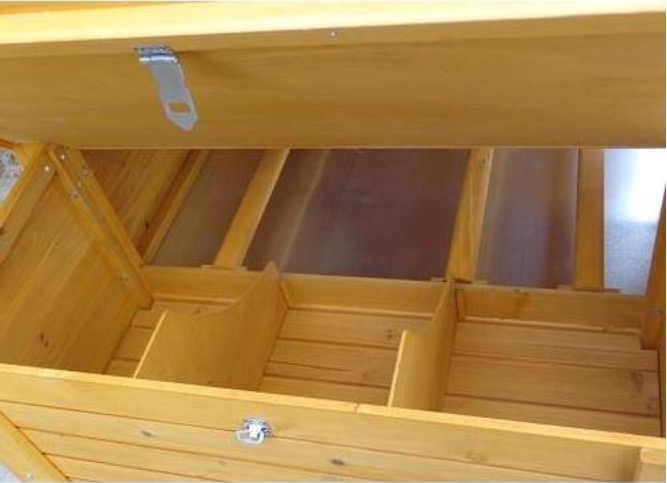 nido galline ovaiole pollaio in legno da giardino