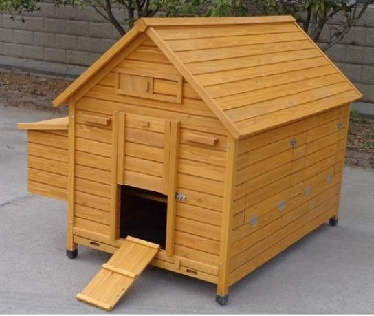 pollaio alto largo casetta in legno galline ovaiole