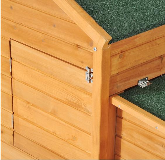 pollaio casetta legno massello montaggio facile