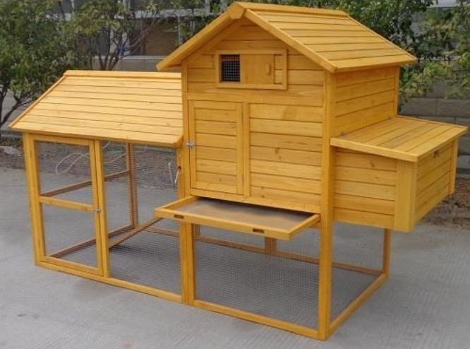 pollaio in legno cassetto estraibile vassoio pulizia galline