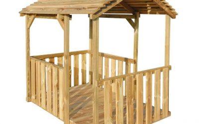 Casetta bambini in legno certificato e trattato per esterno